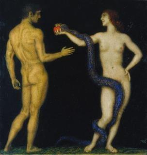 Franz von Stuck, Adam and Eve, 1920